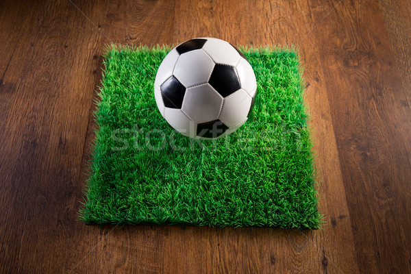 Football gazon ballon herbe artificielle Photo stock © stokkete