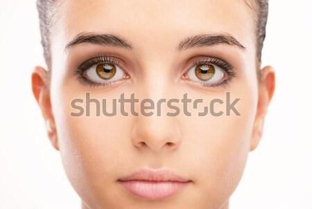 Belle femme portrait propre peau belle jeune femme Photo stock © stokkete