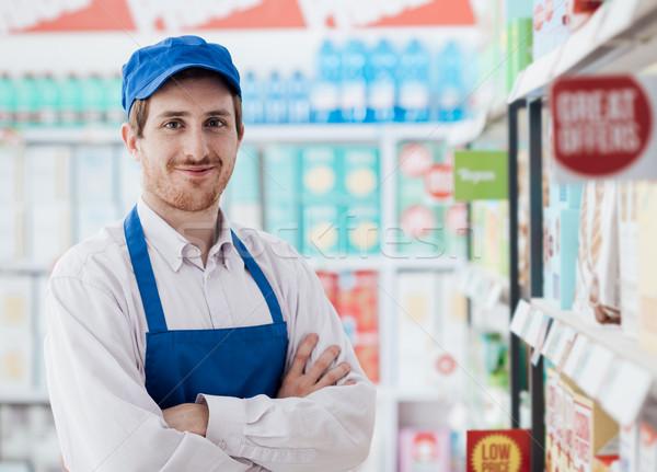 Supermarket clerk portrait Stock photo © stokkete