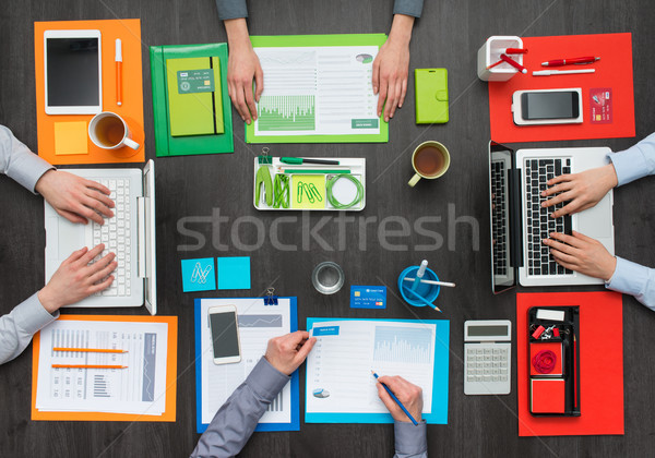 Colorful creative workspace Stock photo © stokkete