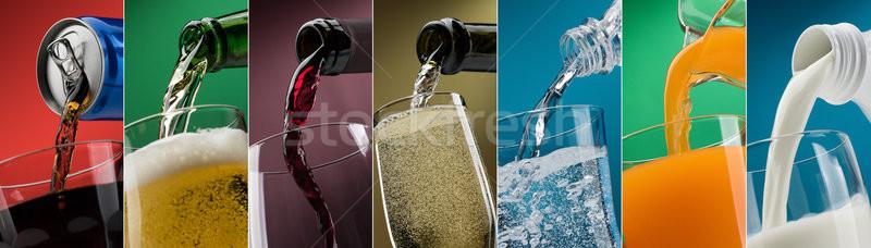 Napojów okulary Fotografia kolekcja napój bezalkoholowy Zdjęcia stock © stokkete