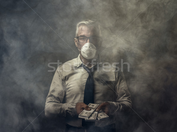 Corruption, pollution and economical interests Stock photo © stokkete