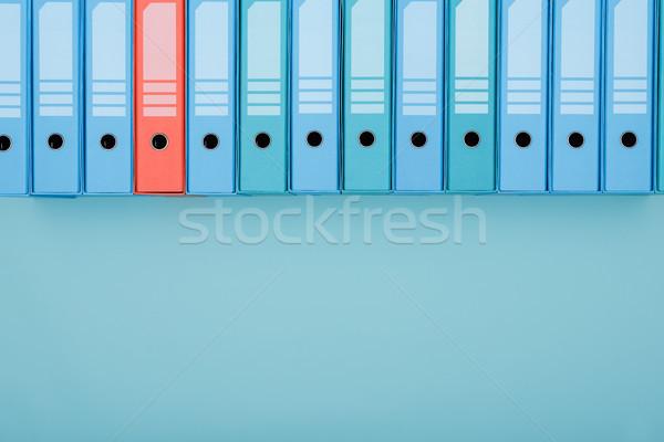 Organizzato archivio anello fila uno rosso Foto d'archivio © stokkete