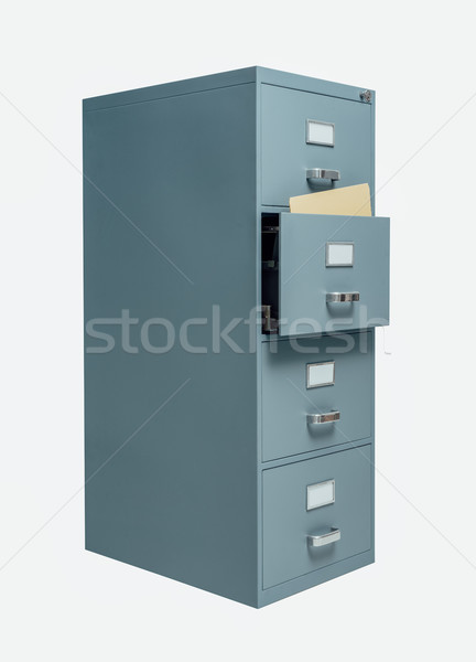 Filing cabinet with open drawer Stock photo © stokkete