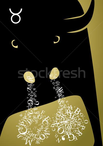 zodiac sign taurus Stock photo © stokkete