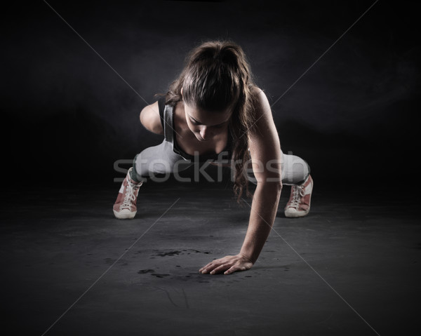 Stock photo: Push-Ups