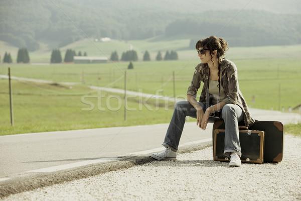 Hitchhiker Stock photo © stokkete