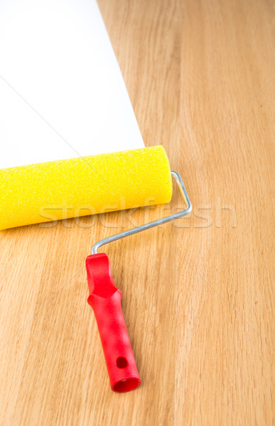 Paint roller with white copyspace Stock photo © stokkete