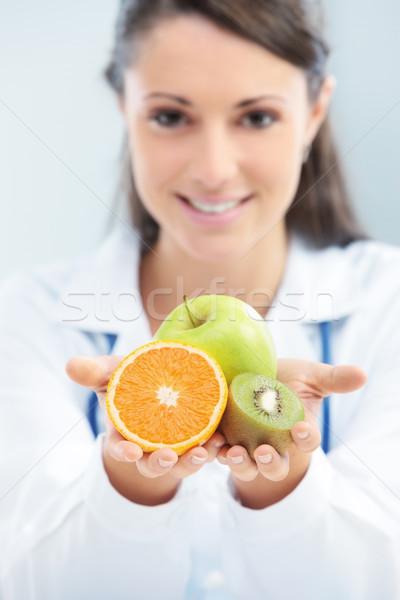 Сток-фото: диета · здоровое · питание · диетолог · врач · плодов