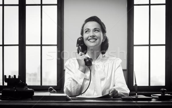 улыбаясь портье работу Vintage рабочих Сток-фото © stokkete