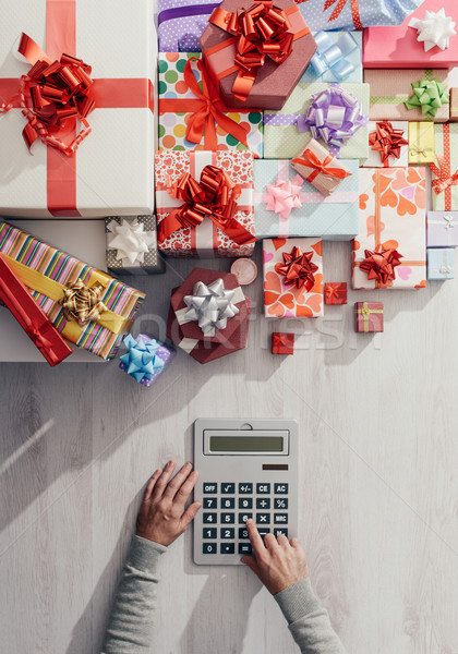 Expensive Christmas gifts Stock photo © stokkete