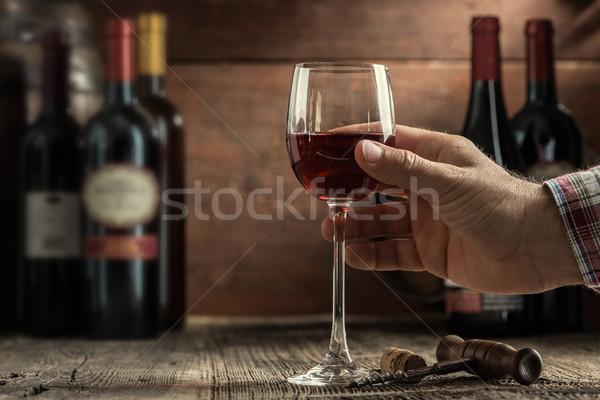 Degustação de vinhos experiência rústico Foto stock © stokkete
