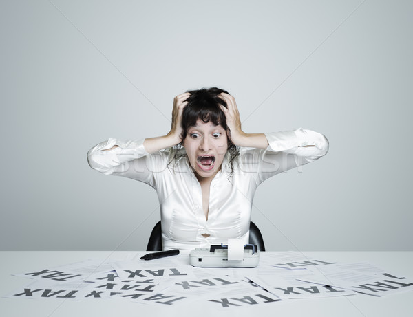 Business woman desperate Stock photo © stokkete