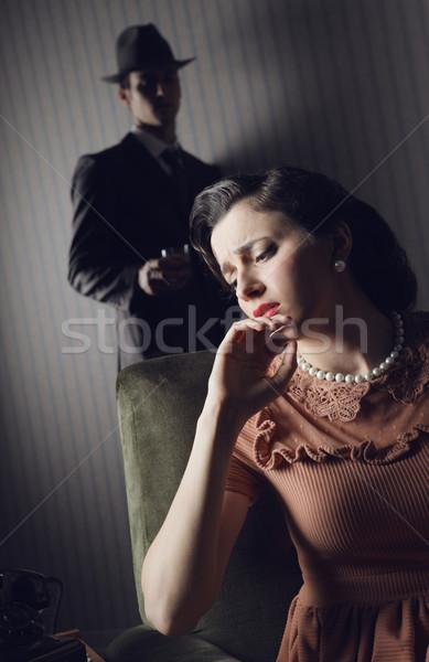 çatışma adam kadın aile üzücü stres Stok fotoğraf © stokkete