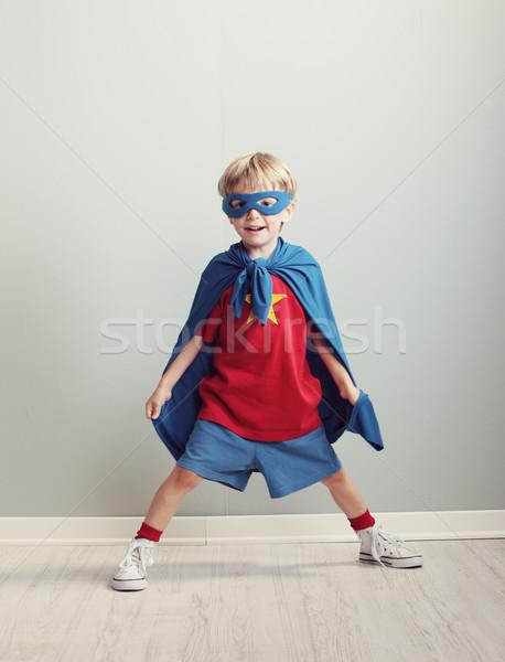 スーパーヒーロー 夢 楽しい 肖像 ストックフォト © stokkete