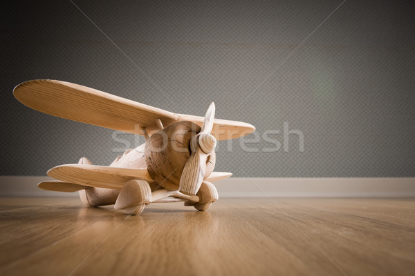 Wooden toy plane Stock photo © stokkete
