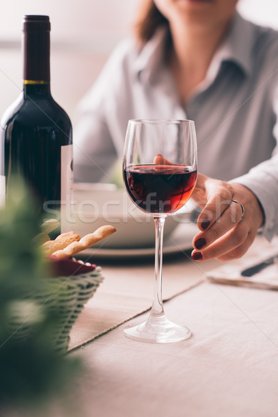Fine dining and wine tasting Stock photo © stokkete