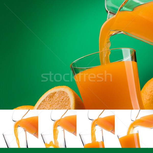Pouring orange juice into a glass Stock photo © stokkete