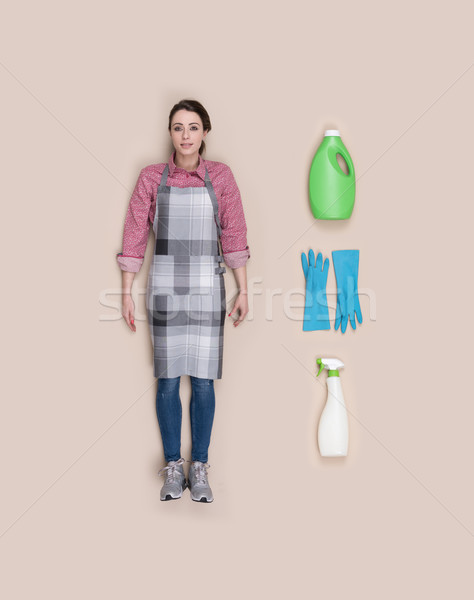 Lifelike housewife doll Stock photo © stokkete