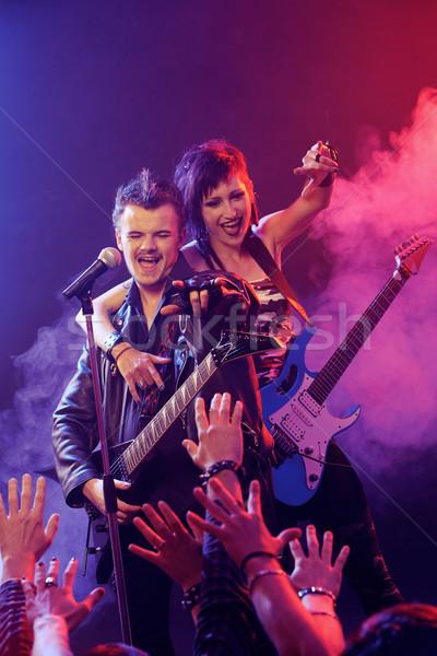 Rock koncertu żyć zespołu etapie Zdjęcia stock © stokkete
