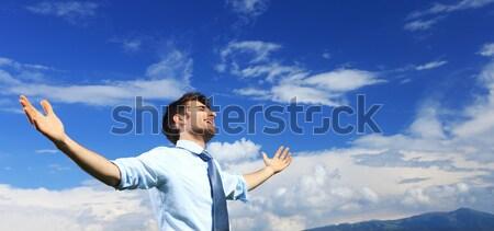 Liberdade jovem homem de negócios ar fresco Foto stock © stokkete
