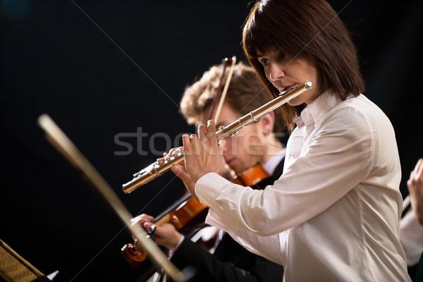этап элегантный женщины оркестра художник Сток-фото © stokkete