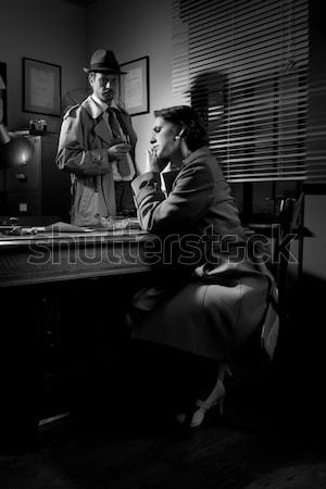 Man consoling a young woman in his office Stock photo © stokkete