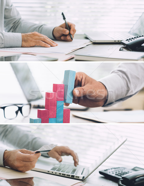 Successful financial and business plan Stock photo © stokkete