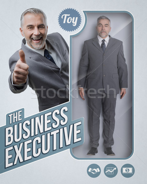 Stock photo: The business executive lifelike doll