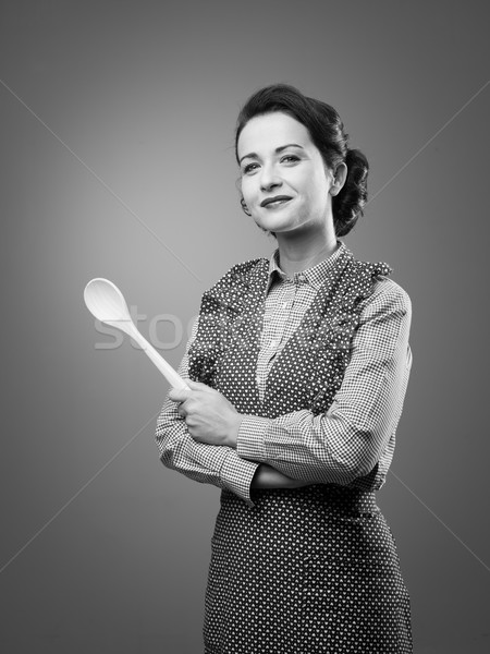 Attractive old-timey housewife Stock photo © stokkete