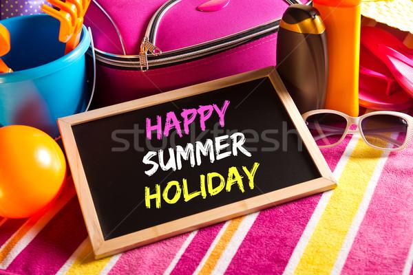 Happy summer holidays card Stock photo © stokkete