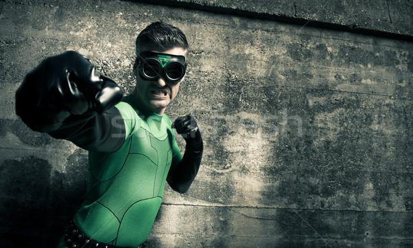 Nemico aggressivo coraggiosi pugno Foto d'archivio © stokkete