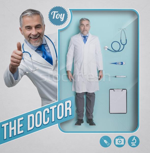 Médico muneca realista doctor de sexo masculino juguete Foto stock © stokkete