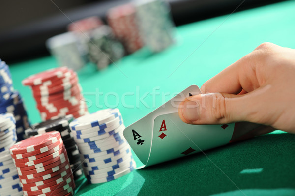 Poker texas holdem: Two Aces Stock photo © stokkete