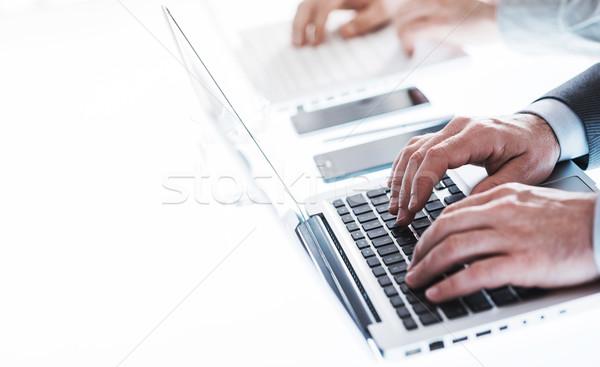 деловые люди рабочих профессиональных бизнесменов Сток-фото © stokkete