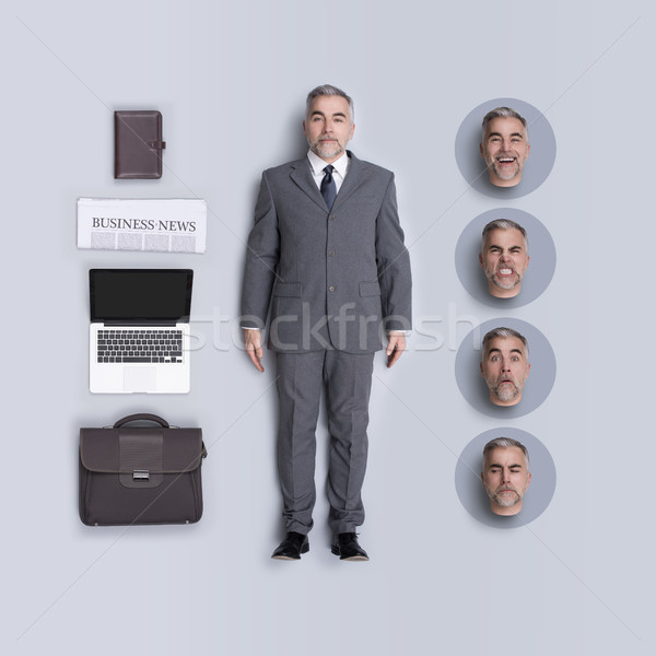 Realistic business executive doll with accessories Stock photo © stokkete