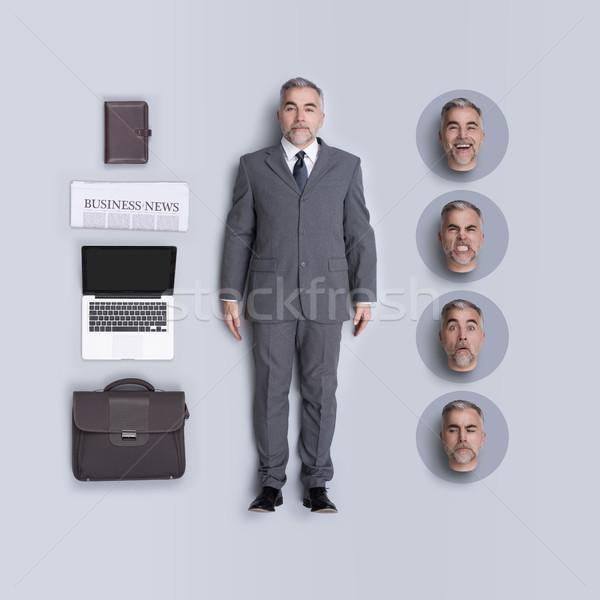 Realista negócio executivo boneca corporativo Foto stock © stokkete