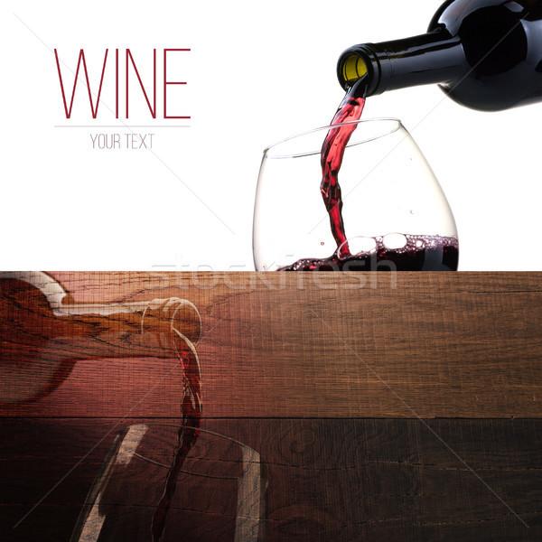 Degustação de vinhos bandeira conjunto excelente vinho tinto degustação Foto stock © stokkete