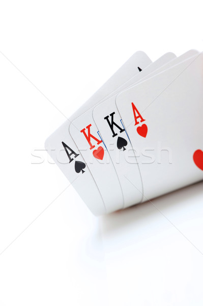 winning omaha starting hand, aces and kings Stock photo © stokkete