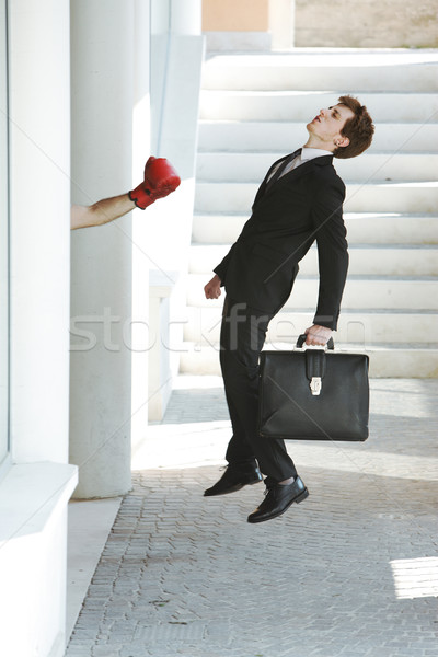 Business Ausfall jungen Geschäftsmann heraus Geschäftsmann Stock foto © stokkete