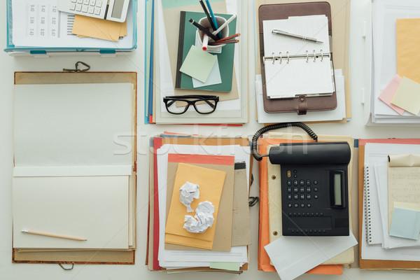 Vol business desktop papierwerk objecten produktiviteit Stockfoto © stokkete