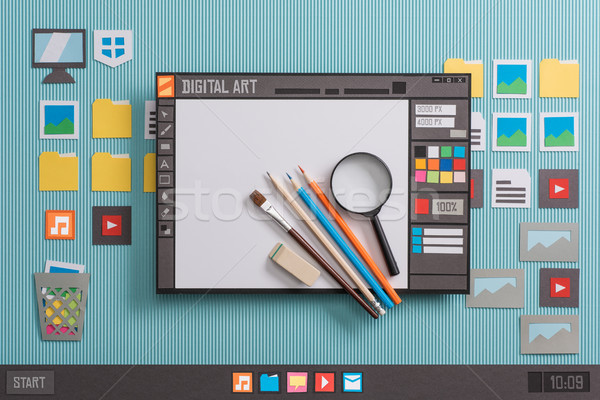 Graphic design software Stock photo © stokkete