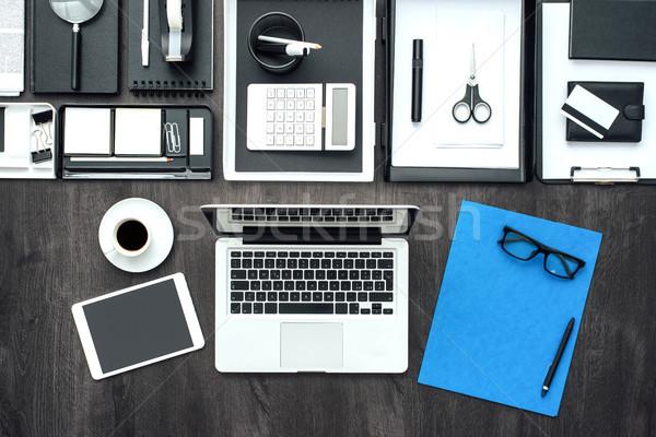 Entreprise affaires bureau bureau portable comprimé Photo stock © stokkete