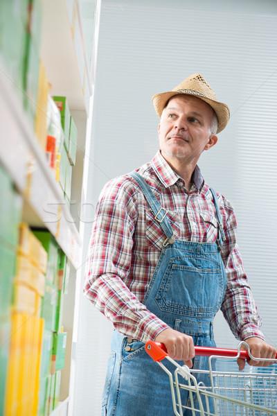 農家 ショッピング スーパーマーケット ショッピングカート シェルフ ショップ ストックフォト © stokkete