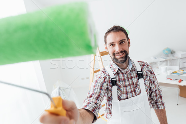 Professional painter Stock photo © stokkete