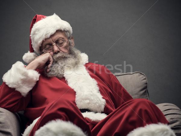 Sieste somnolent détente fauteuil Photo stock © stokkete