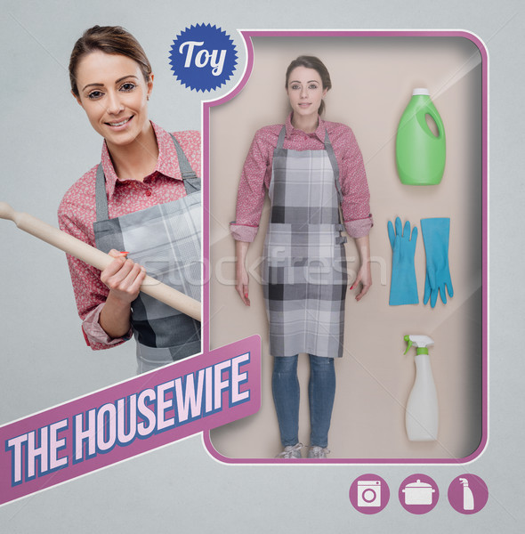 主婦 現実的な 人形 おもちゃ 参照してください 包装 ストックフォト © stokkete