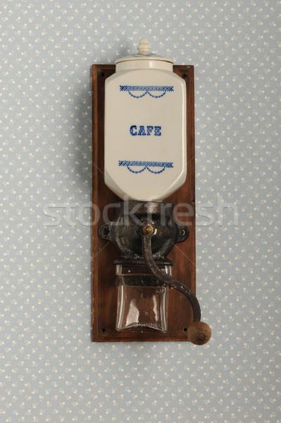 Kávé daráló klasszikus textúra étel fa Stock fotó © stokkete