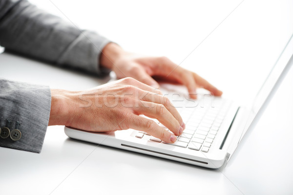Stock photo: Working at laptop