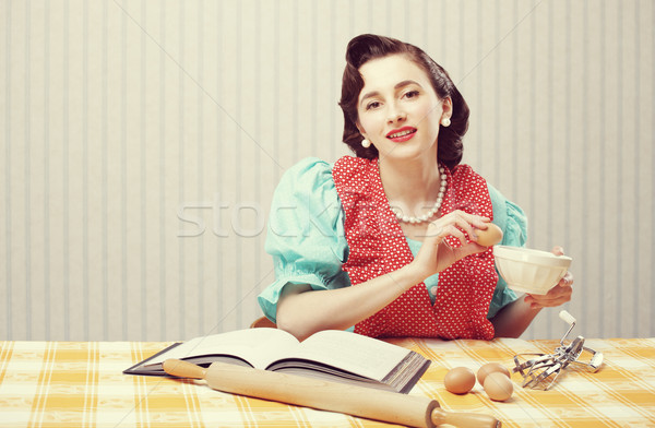 Housewife in the kitchen Stock photo © stokkete
